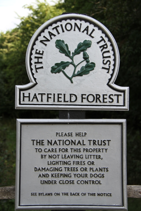 Hatfield forest sign, 01